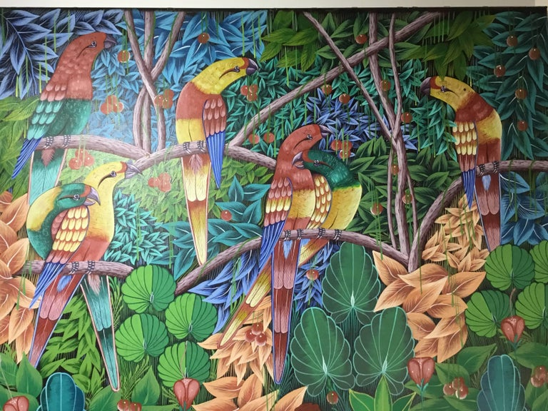 Haitian Oil Painting on Canvas For Sale 3