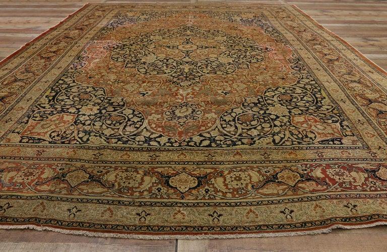 Haji Jalili Antique Persian Tabriz Rug with Art Nouveau Style For Sale 2