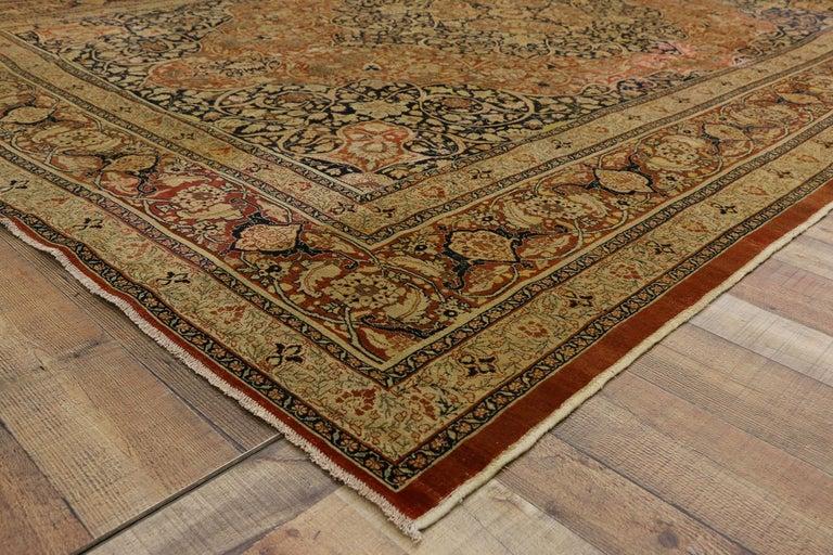 Haji Jalili Antique Persian Tabriz Rug with Art Nouveau Style For Sale 1