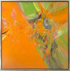 """""""Sans Titre"""" oil on canvas painting by Hajime Kato, 1968"""