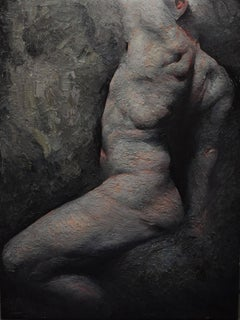 "NUDE Painting realism ""Origin of Dusk"""