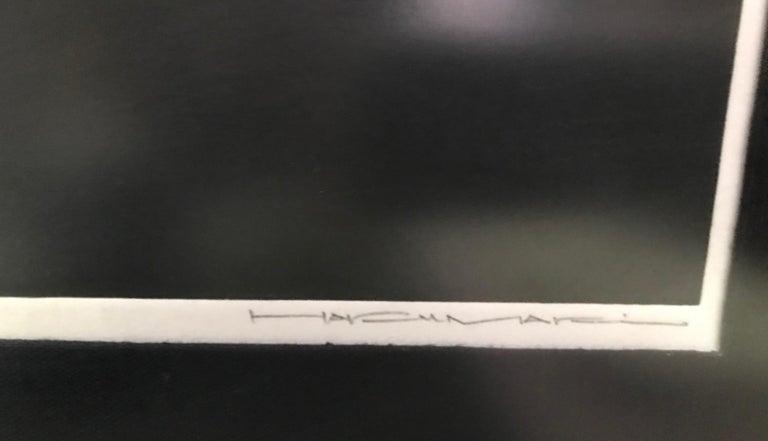 Haku Maki Signed Limited Edition Japanese Embossed Woodblock Print Poem 72-70 For Sale 1