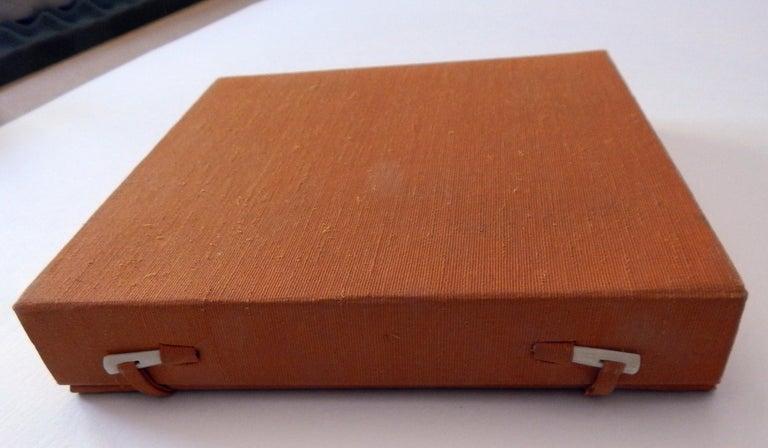 Haku Maki Set of Twelve Miniature Color Woodblock Prints in Cloth Case For Sale 14