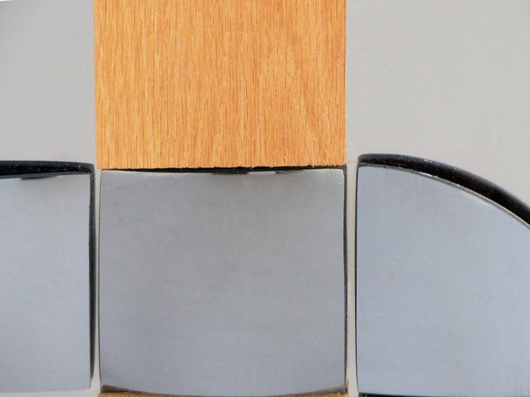 Hal Bienenfeld Geometric Op Art Decorative Mirrored Wall Sculpture In Good Condition For Sale In Miami, FL