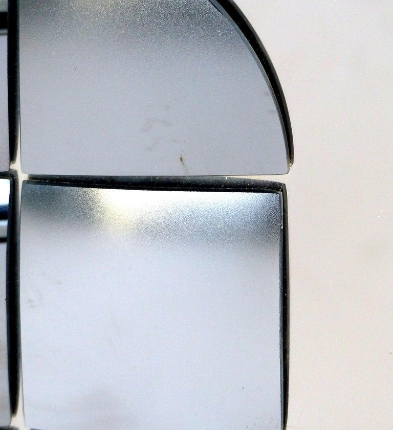 Late 20th Century Hal Bienenfeld Geometric Op Art Decorative Mirrored Wall Sculpture For Sale