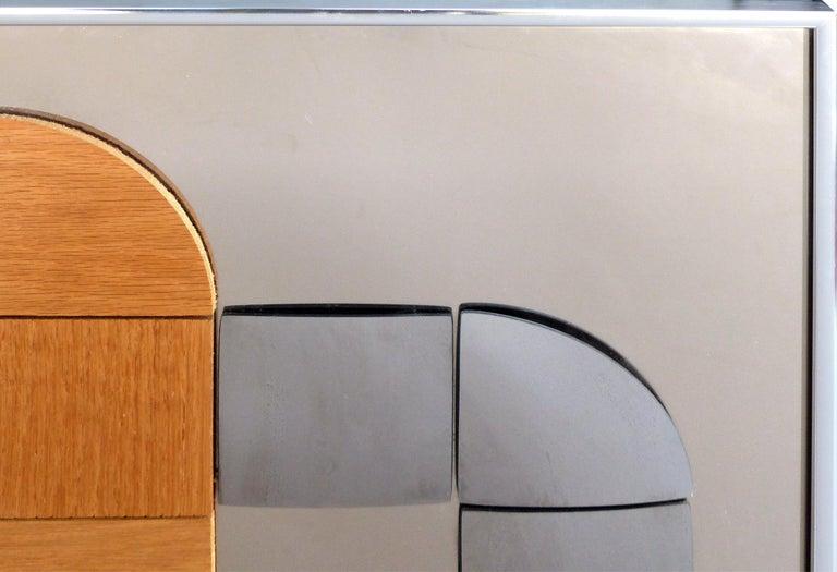 Hal Bienenfeld Geometric Op Art Decorative Mirrored Wall Sculpture For Sale 2