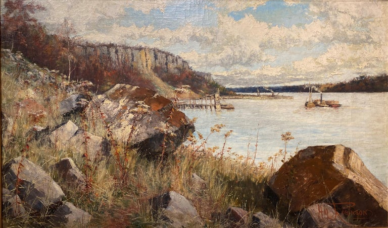 The Hudson River, Palisades - American Impressionist Art by Hal Robinson