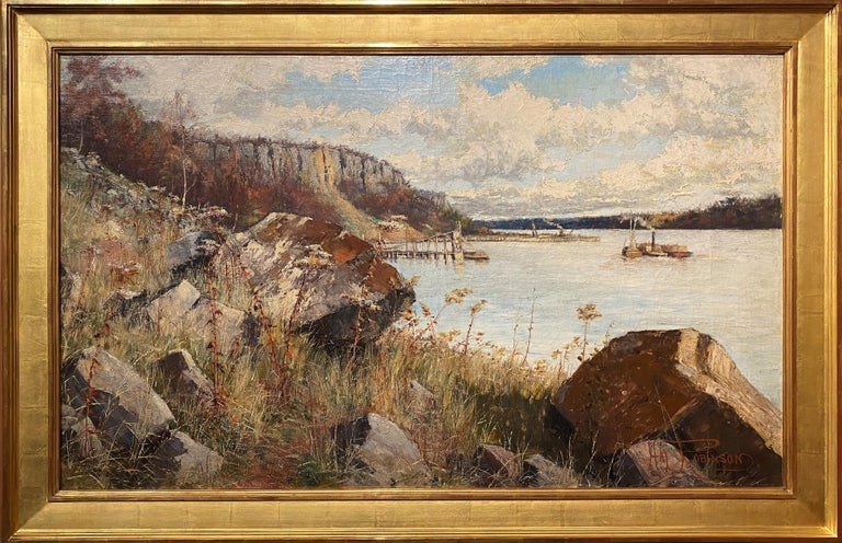 The Hudson River, Palisades - Art by Hal Robinson