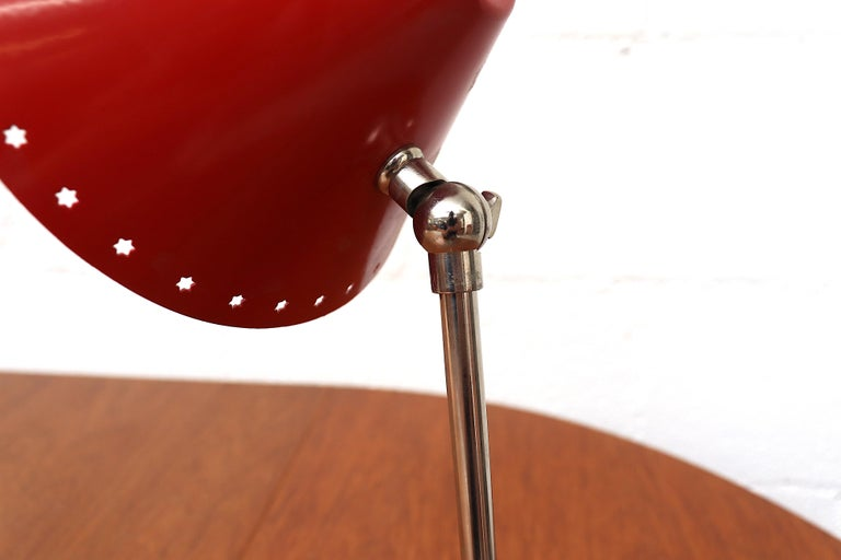 Hala Zeist Red Enameled Pinocchio Table or Wall Lamp For Sale 3