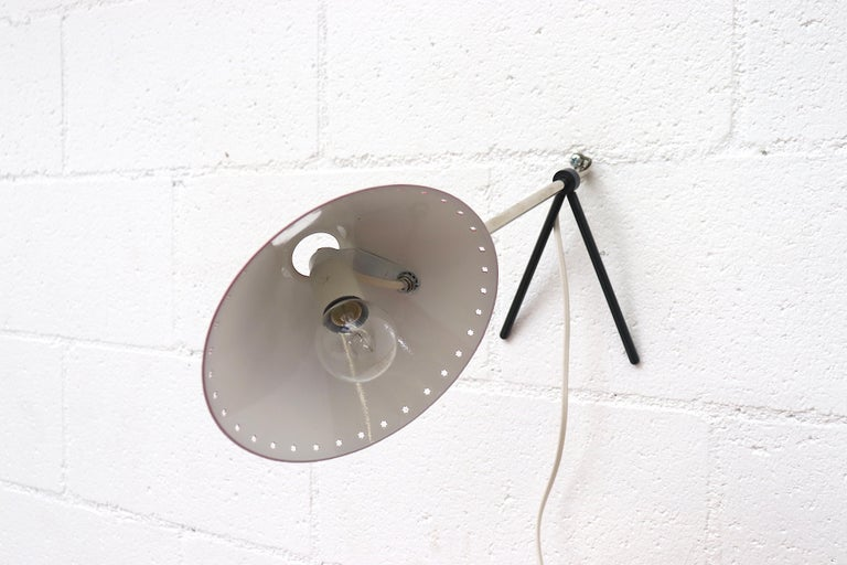 Mid-Century Modern Hala Zeist Red Enameled Pinocchio Table or Wall Lamp For Sale