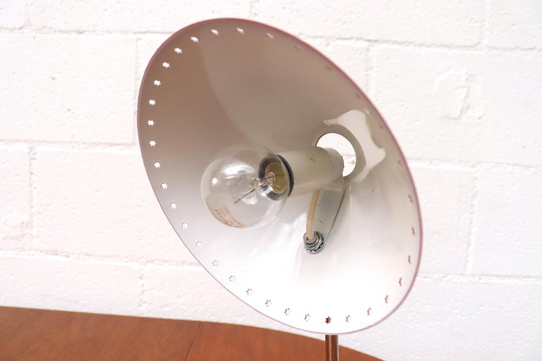 Mid-20th Century Hala Zeist Red Enameled Pinocchio Table or Wall Lamp For Sale