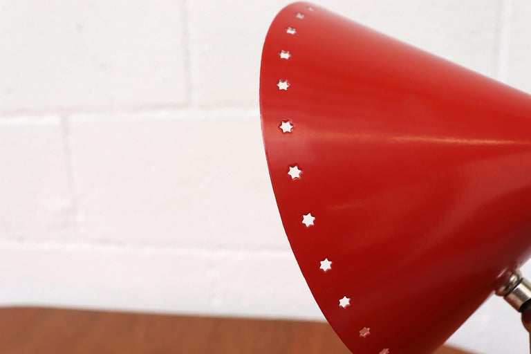Hala Zeist Red Enameled Pinocchio Table or Wall Lamp For Sale 2