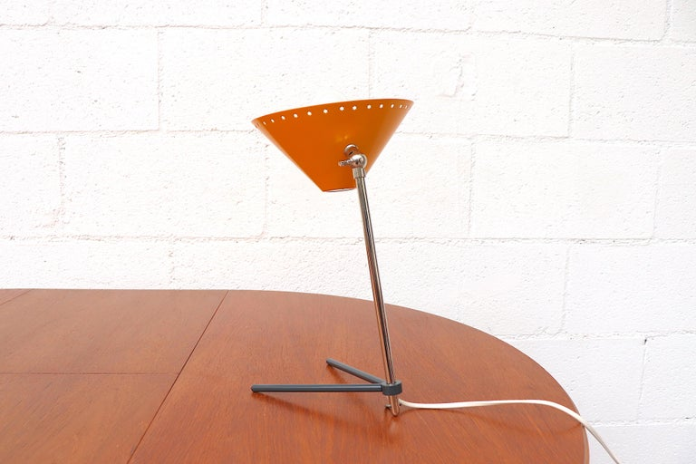 Mid-20th Century Hala Zeist Yellow Enameled Pinocchio Table or Wall Lamp For Sale