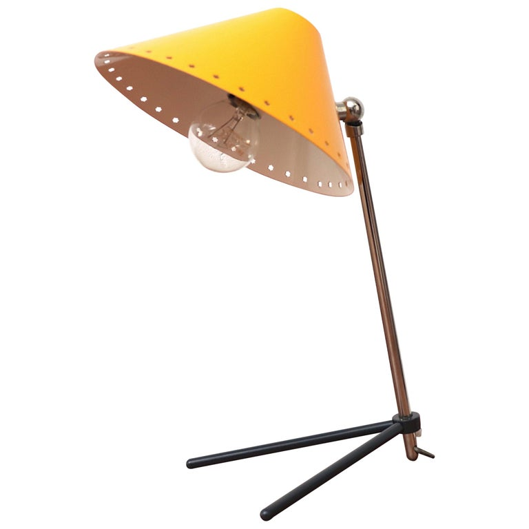 Hala Zeist Yellow Enameled Pinocchio Table or Wall Lamp For Sale