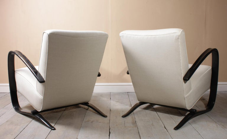 Art Deco Halabala Armchairs H269 For Sale