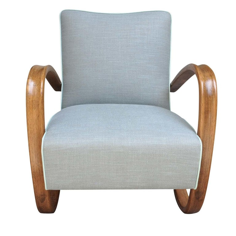 Halabala H269 Armchair by Jindrich Halabala In Excellent Condition For Sale In Milan, IT