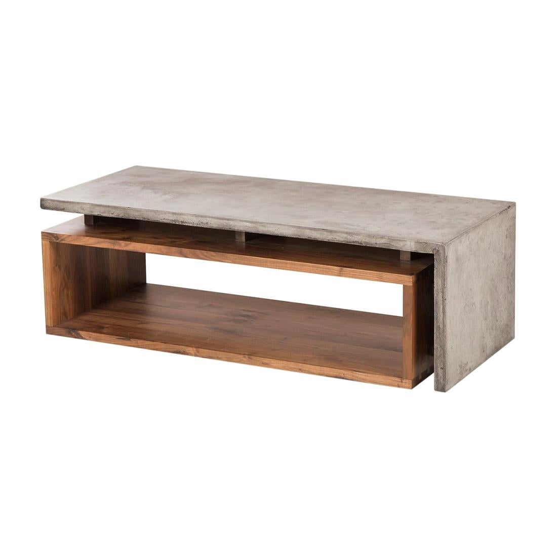 Half Concrete Coffee Table