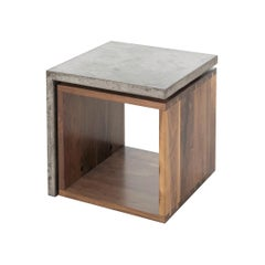 Half Concrete Side Table
