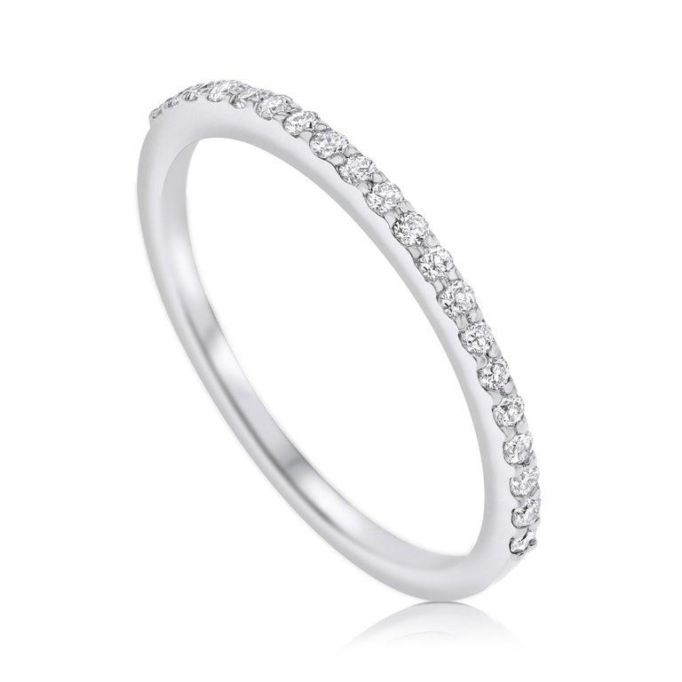 For Sale: undefined Half Eternity 0.15 Carat Diamond Wedding Ring in 14K White Gold - Shlomit Rogel 2