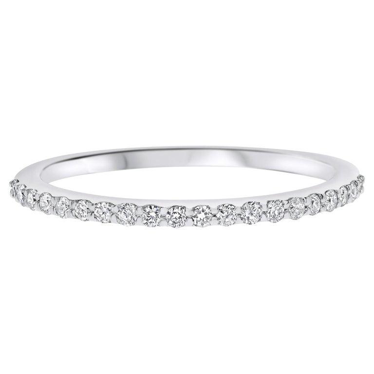 For Sale: undefined Half Eternity 0.15 Carat Diamond Wedding Ring in 14K White Gold - Shlomit Rogel