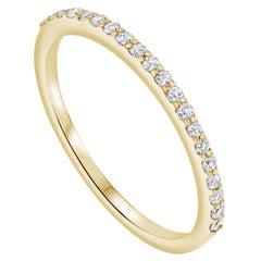 Half Eternity 0.15 Carat Diamond Wedding Ring in 14k Yellow Gold - Shlomit Rogel