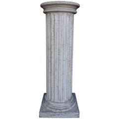 Half Fluted Marble Column Large, 20th Century