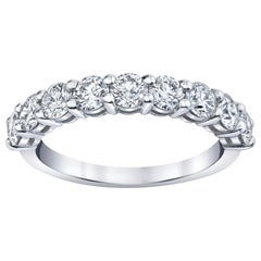 Half Way Eternity Band with Round Brilliant Cut Diamonds