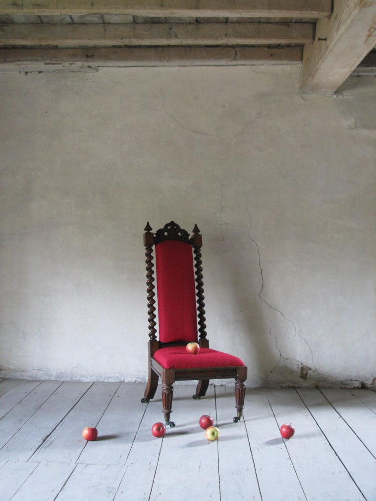 Hall Chair, Nursing Chair, Bedroom Chair, Bobbin Chair, Mahogany Chair In Good Condition For Sale In South Cotswolds, GB