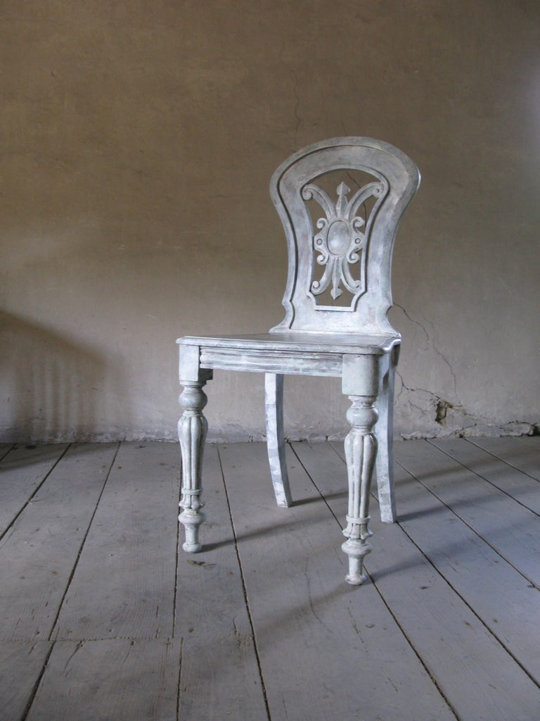 Lovely antique English side chair painted Decorative piece!  Word from the owner During these uncertain times, we feel grateful that we are able to work from home and are committed to keeping projects moving ahead for our clients. Our