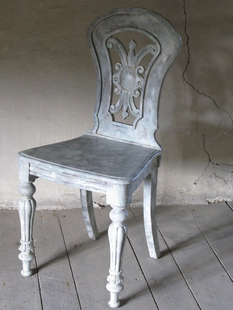 Cold-Painted Hall Chair, Side Chair, Decorative Chair For Sale