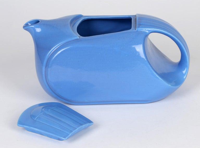 Hall China Company Art Deco Westinghouse Refrigerator Blue Glazed Pitcher For Sale 4