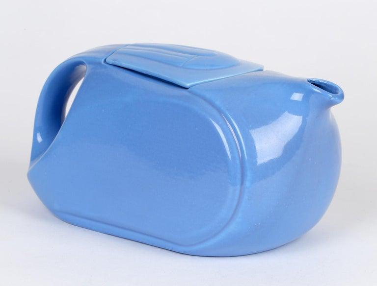 Hall China Company Art Deco Westinghouse Refrigerator Blue Glazed Pitcher For Sale 1