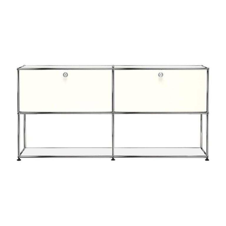 For Sale: White (Pure White) USM Haller Credenza F2 Storage System