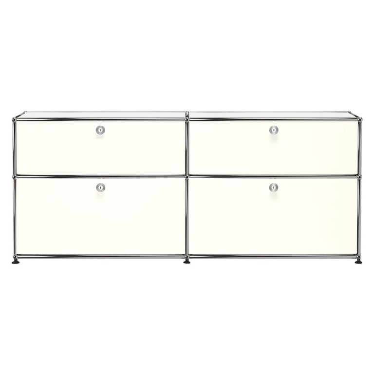 For Sale: White (Pure White) USM Haller Mid Credenza D Storage System