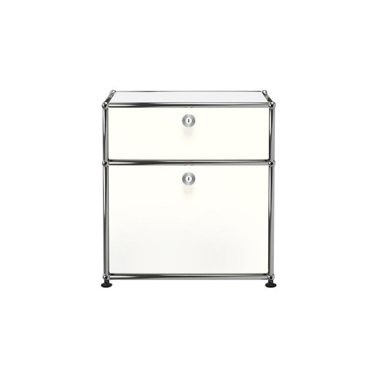 For Sale: White (Pure White) Haller Nightstand P1 Storage System by USM