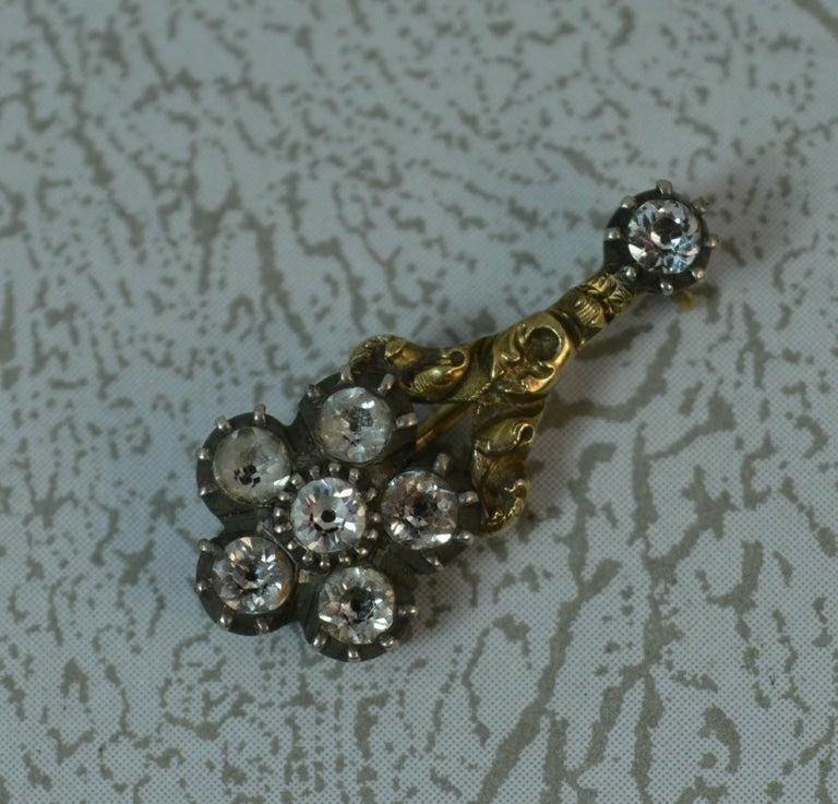 Women's Halley's Comet 12 Carat Yellow Gold and Paste Brooch
