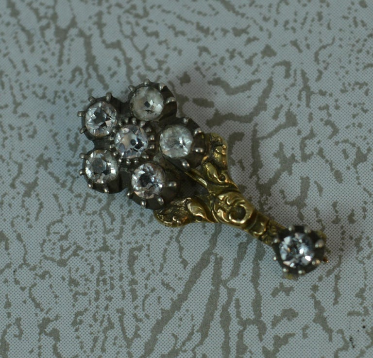 Halley's Comet 12 Carat Yellow Gold and Paste Brooch 1