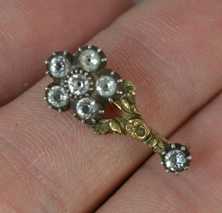Halley's Comet 12 Carat Yellow Gold and Paste Brooch 2