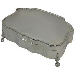 Hallmarked Edwardian Silver Jewelry Multi Ring Slot Box