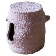 Hallucination 75, Handmade Volcanic Stoneware Stool and Side Table