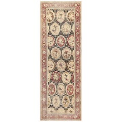 Hallway Gallery Size Antique Caucasian Karabagh Rug. Size: 6 ft 9 in x 19 ft