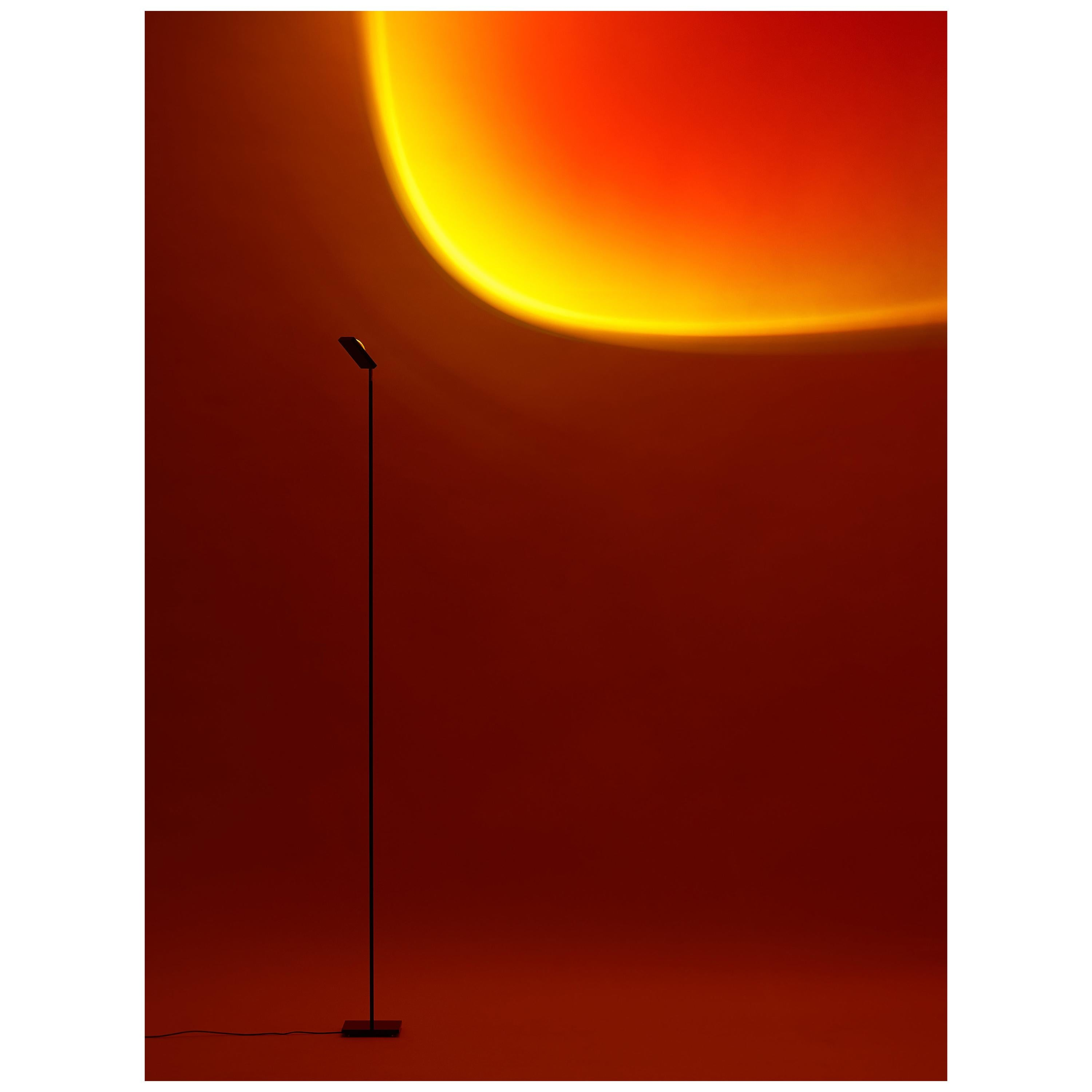 'Halo Big' Sunset Red Floor Lamp/ Color Projector by Mandalaki Studio