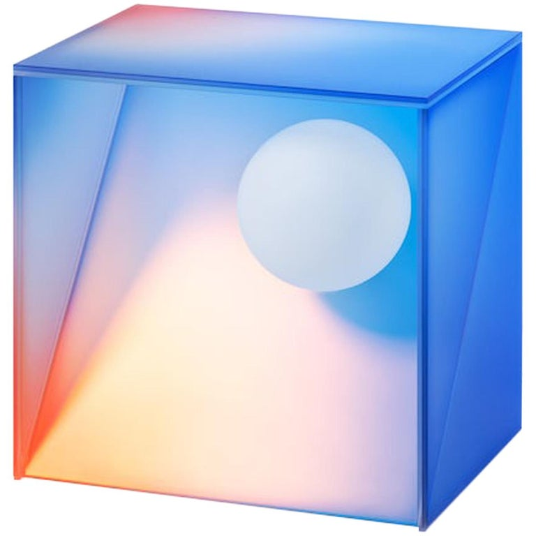 HALO Gradient Color Glass Light 'Tall' by Studio Buzao For Sale