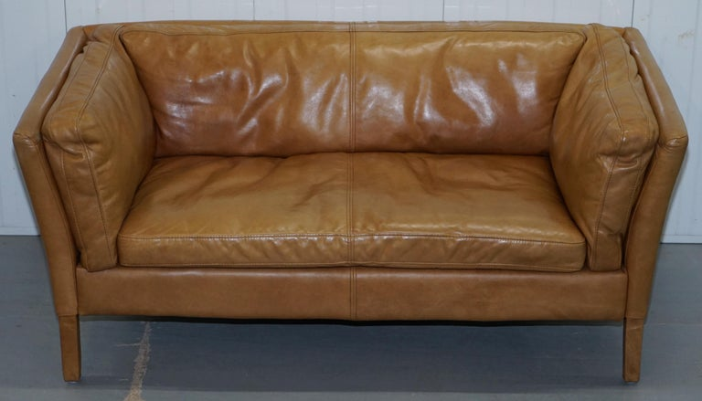Peachy Halo Groucho Leather Small 2 Seat Sofa Matching Armchair Lamtechconsult Wood Chair Design Ideas Lamtechconsultcom