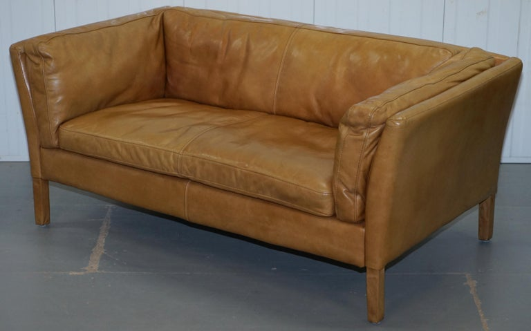 Halo Groucho Leather Small 2 Seat Sofa Matching Armchair Available