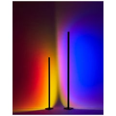 'Halo Line' Deep Blue 120 Floor Lamp/ Color Projector by Mandalaki Studio