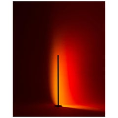 'Halo Line' Sunset Red 120 Floor Lamp or Color Projector by Mandalaki Studio
