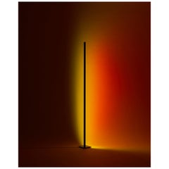 'Halo Line' Sunset Red 180 Floor Lamp/ Color Projector by Mandalaki Studio