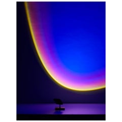 'Halo Mini' Deep Blue Floor Lamp or Color Projector by Mandalaki Studio