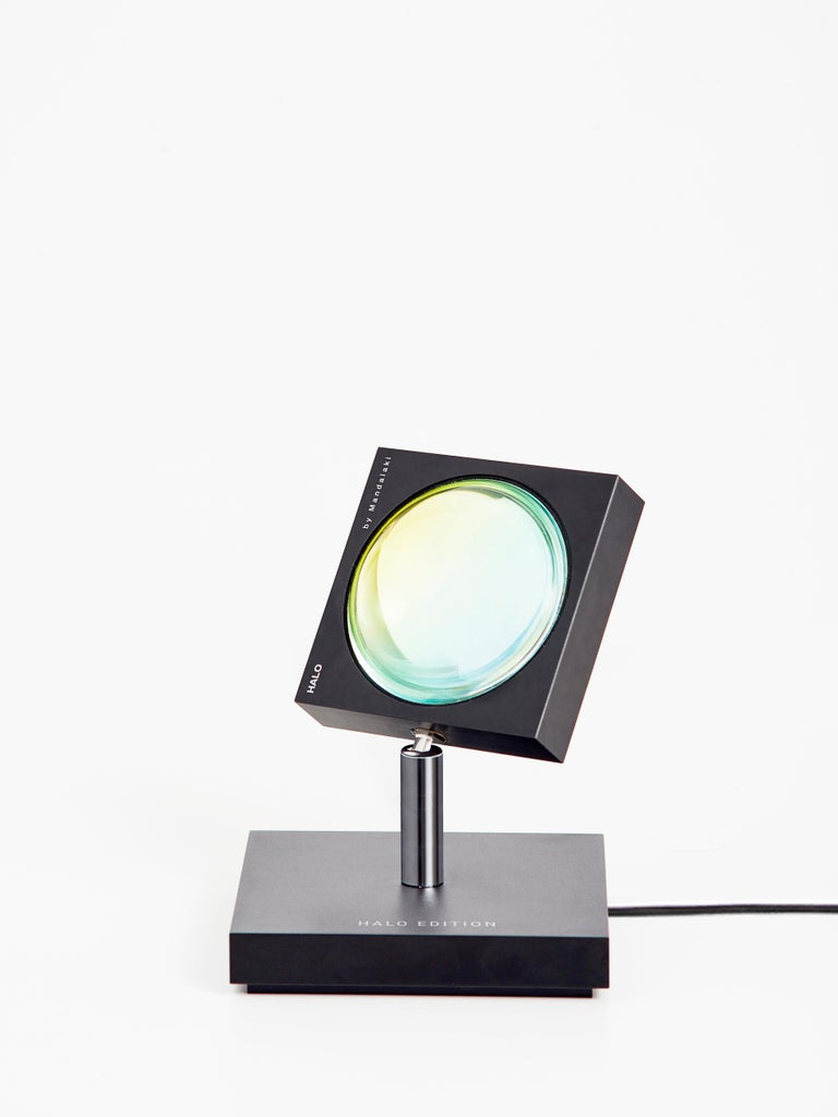 'Halo Mini' Sunset Red Floor Lamp or Color Projector by Mandalaki Studio In New Condition For Sale In Beverly Hills, CA